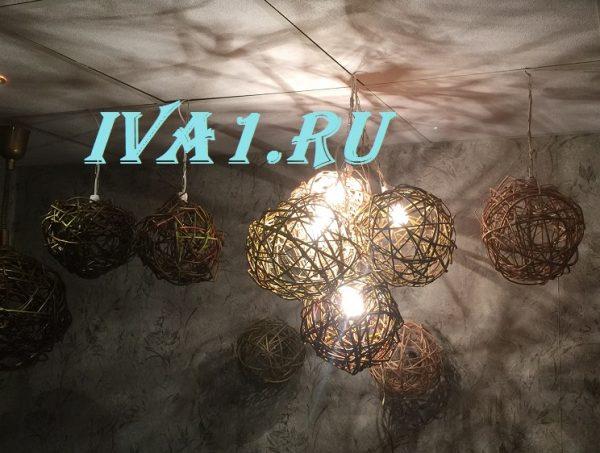 шар плетёный на потолок