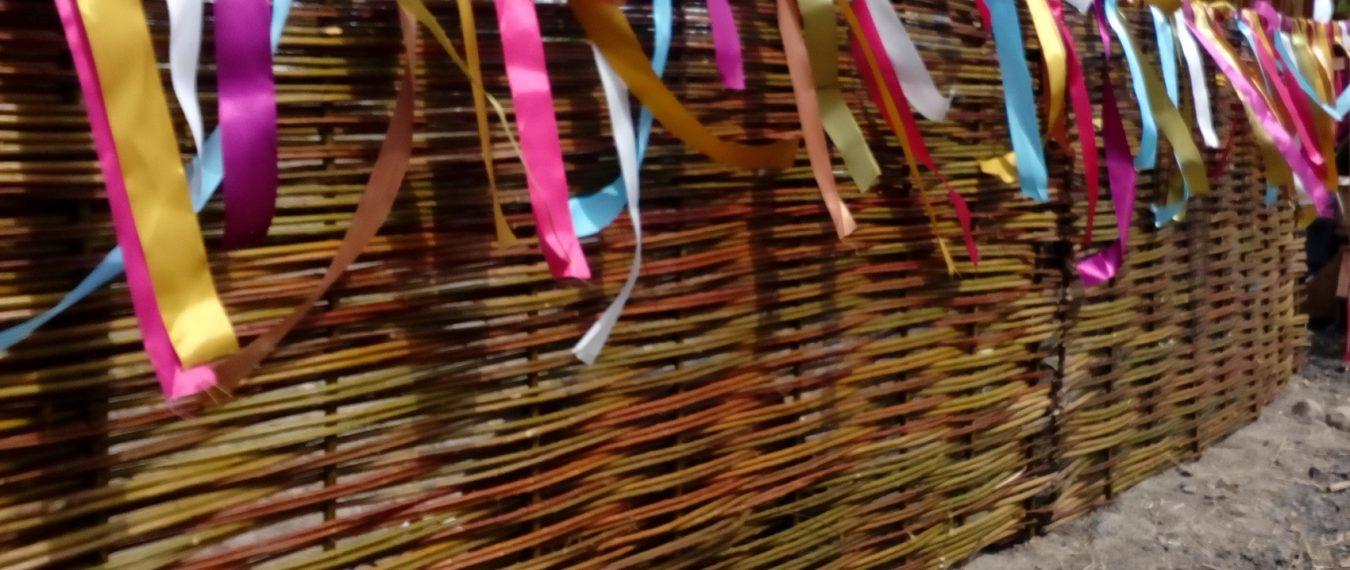 Плетень из лозы