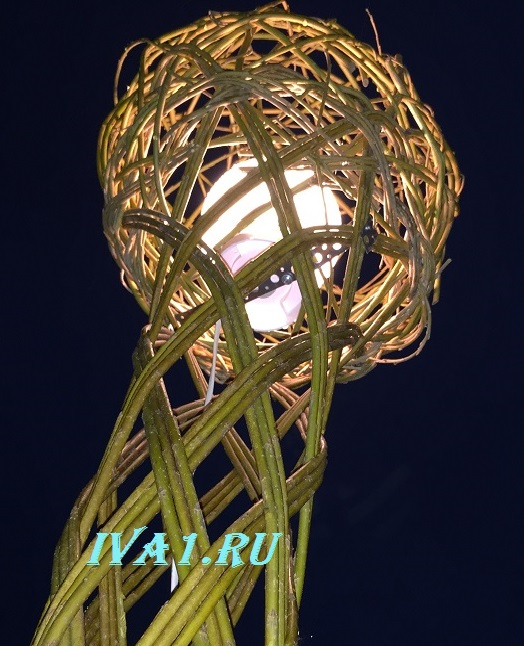 светильник из ивы на iva1