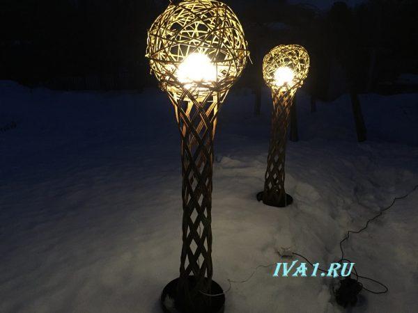 зимний светильник ива